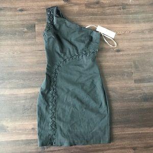Sale Halston heritage lace up ponte dress